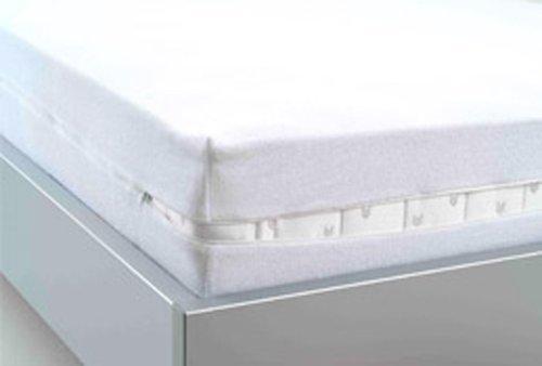 STODOMED Encasing Matratzenschutzbezug Vollbezug mit Reißverschluß Zwischenbezug Milben Allergiker Inkontinenz wasserdicht für Matratzen von 90 x 200 x 17 cm