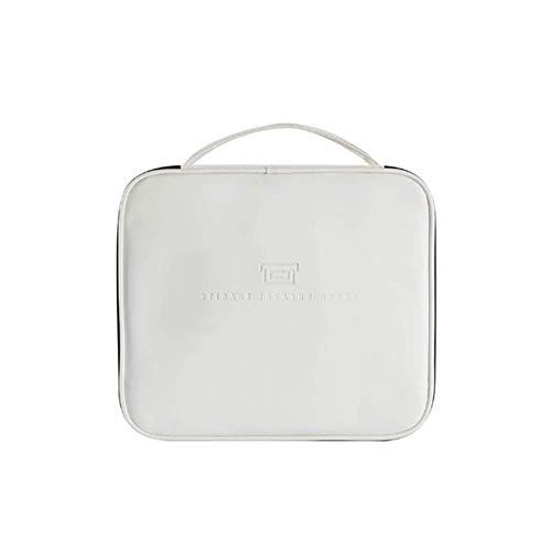 Sac Voyage Sac de toilette suspendu pliant portable étanche cosmétique Wash SackToiletry Rucksack Poignée PU vert,Blanc