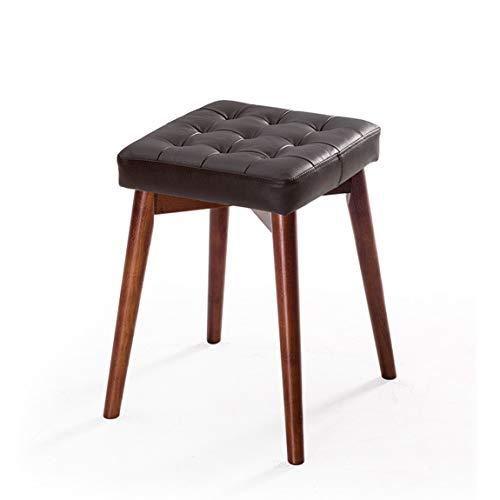 CKH Esszimmerbänke und Bänke aus Massivholz, stapelbar Kreative modische Frisierbänke, Essbänke, kleine Familienbänke, rot-braune Beine 1