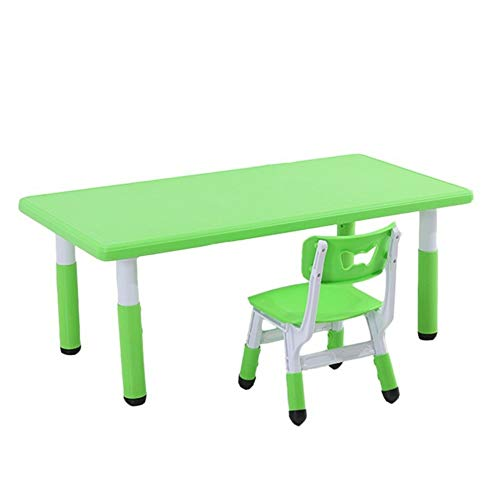 CHAXIA Chaise De Table Enfant Ensemble Jeu Apprentissage Table À Manger Éducation Précoce Tables Et Chaises Durable Facile À Nettoyer, 4 Couleurs (Color : Green)