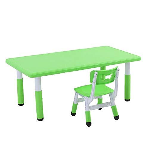 CHAXIA Chaise De Table Enfant Ensemble Jeu Apprentissage Table À Manger Éducation Précoce Tables Et Chaises Durable Facile À Nettoyer, 4 Couleurs (Color : Green)