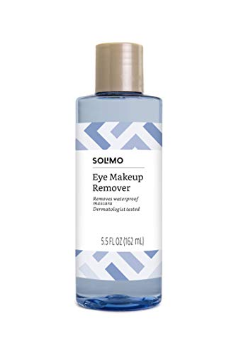 Amazon Brand - Solimo Eye Makeup Remover, Removes Waterproof Mascara, Dermatologist Tested, 5.5...