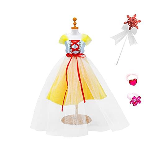 Desk Chairs 2pc Blanco Vestido de Novia Muñecas Barbies Ropa Princesa Vestido de Vestido para muñecas de niña (28 cm) (Color : 2pcsD)