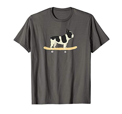 Funny Skateboarding French Bulldog Puppy Gift T-Shirt