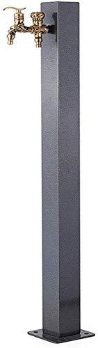 YLLN Grifo para Exteriores de Acero Inoxidable Anticongelante Agua fría Grifo de latón Tipo de Columna Grifo de Interfaz Dual para Villa jardín Patio Piscina Jardín Grifos, B