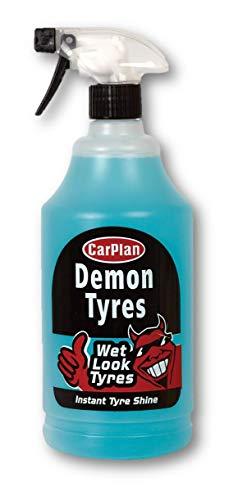 CarPlan Demon Tyres Instant Tyre Shine Cleaner Polisher Wet Look 1 Litre -...