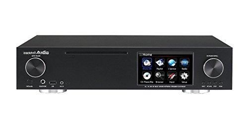 Cocktail Audio X30 schwarz Audioplayer mit FM, CD und Verstärker mit 1000GB 2,5