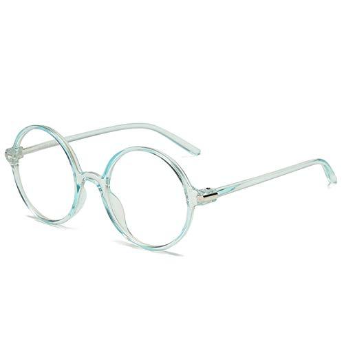 De Luz Azul Gafas 3 unids mujeres hombres clásico transparente redondo anti azul rayos gafas claro lente óptico espectáculo marcos gafas gafas gafas Gafas Para Juegos (Frame Color : E)
