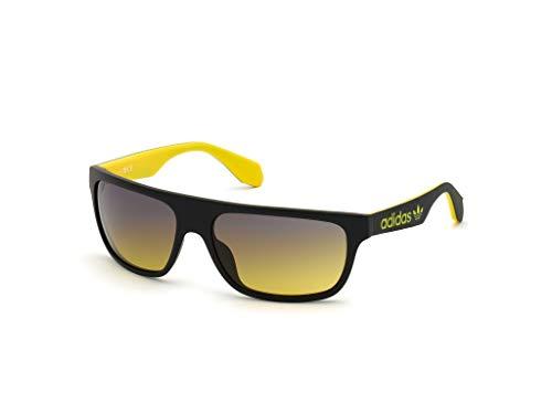 adidas Herren OR0023 Sonnenbrille, Matte Black/Gradient Blue, 59