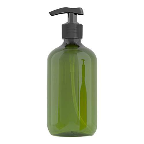 lafyHo 500 ml Pet Recargable Botella vacía Champú Bomba de la loción de Prensa de Maquillaje dispensador Recipiente de plástico, de Color Verde Oscuro