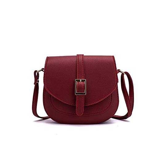 DLF Female bag saddle bag simple wild fashion single shoulder bag messenger lady small bag mobile phone coin purse (Color : Black)