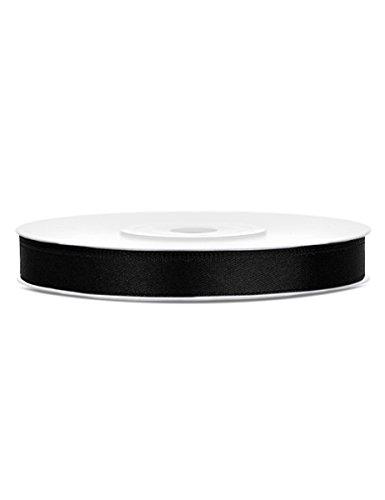 Generique - Ruban Satin 6 mm Noir 25 mètres