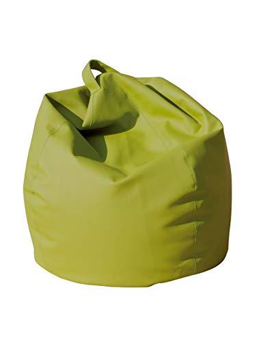 13Casa Dea Poltrona a Sacco, finta pelle, Verde Olivastro, 70 x 110 cm