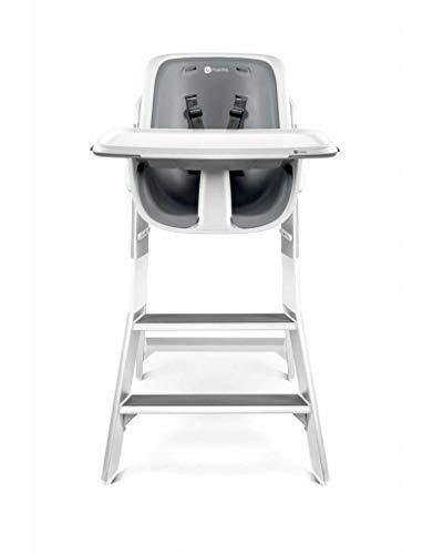 4moms - Trona para bebé, bandeja magnética, diseño de mesa, color blanco y gris