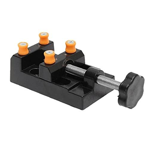 Mini prensa de taladro del tornillo de la abrazadera plana banco del vector vice bricolaje escultura del arte de talla de herramientas, herramientas de funcionamiento manual