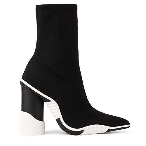 Botines Jeffrey Campbell Goal 2 Black+White