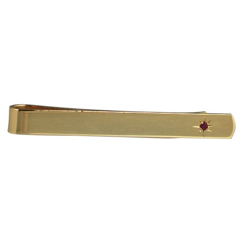 British Jewellery Workshops Disque d'or plaqué 6x55mm Etoiles situé Ruby Tie diaporama