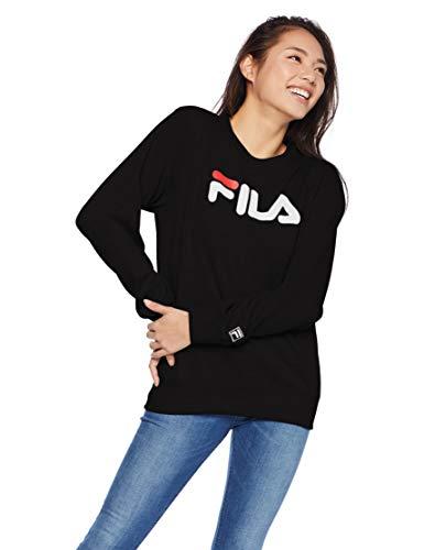[フィラ] FILA フィラ Lady's デカロゴプリントトレーナー FL1441 トレーナー レディース ブラック 日本 M ...