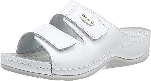 Tamaris Damen 27510 Pantoletten, Weiß (White Leather 117), 40