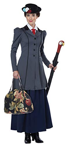 California Costumes Women's English Nanny - Adult Costume Adult Costume, -Gray/Navy, Large