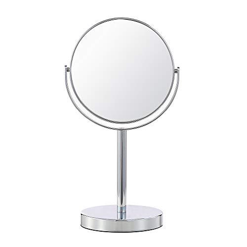(セーディコ)Cerdeco シンプルデザイン 真実の両面鏡DX 5倍拡大鏡 360度回転 卓上鏡 スタンドミラー メイク 化粧道具 (S・鏡面148mmΦ, シルバー) J622