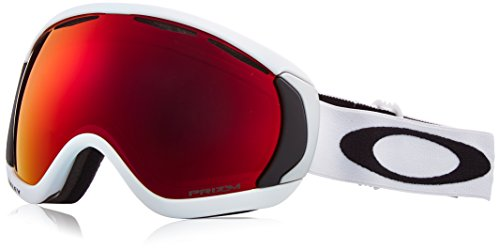 Oakley Men's Canopy Snow Goggles, Matte White, Prizm Torch Iridium, Large