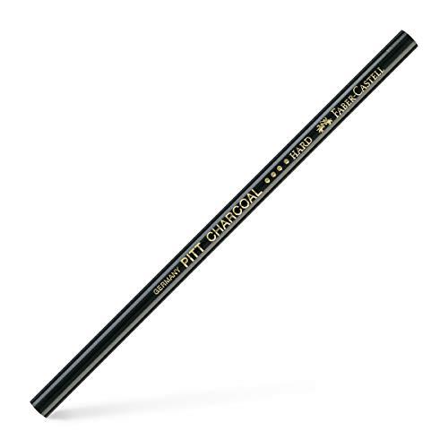 Faber-Castell 117411 Kohlestift Pitt Monochrome fettfrei hart, schwarz, 1 Stück (1er Pack)