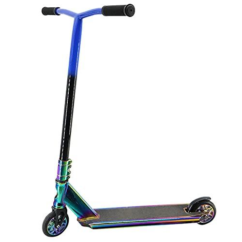 Pro Scooters - Patinete de truco - Avanzado e intermedio y principiante Freestyle Stunt Scooters para altura de 4.3 - 5.9 pies - Duradero, ligero, para adultos - Mujeres y niños niñas, F