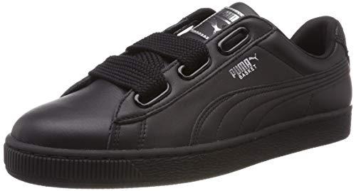 PUMA Basket Heart Bio Hacking Wn's, Zapatillas para Mujer, Negro Black Silver, 40 EU