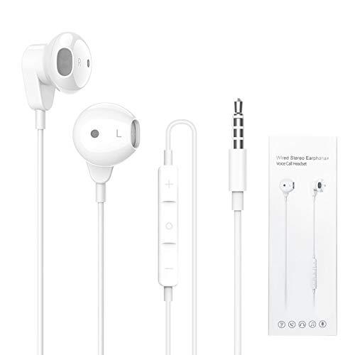 ZERKAR In Ear Kopfhörer, 3.5mm Wired Ohrhörer mit Mikrofon, Stereo Bass Earphones Noise Isolating Headphones Kompatibel mit iPhone, MP3, Huawei, Samsung