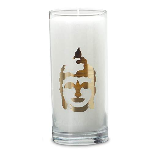 Magische Kerze, weiss, Buddha