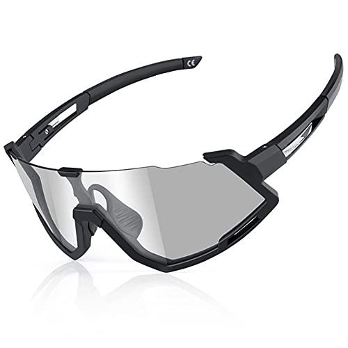 YYLI Gafas De Sol Fotocromáticas Lentes Transparentes, Gafas Ciclismo con Marco Interno, Protección UV400 Gafas para Corriendo Camping Y Actividades Al Aire Libre