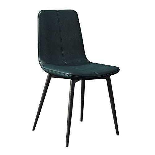 LSRRYD keukenstoel, barkruk, lounge, comfortabele zitting, PU-leer, metalen poten Groen