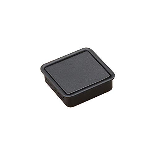 Einzelnes Loch (schwarz), Unkomplizierte Kleiderschrank Schlitz Scratch Griff verdecktem Einbau-Schublade Invisible Griff Zuhause (Color : Black)