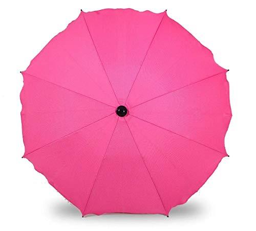 Sombrilla universal para cochecitos y sillas de paseo deportivas, paraguas con soporte universal, protección UV 50+ (rosa oscuro)