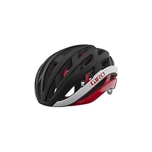 Giro Helios Spherical Adult Road Bike Helmet - Matte Black/Red (2021), Medium (55-59 cm)