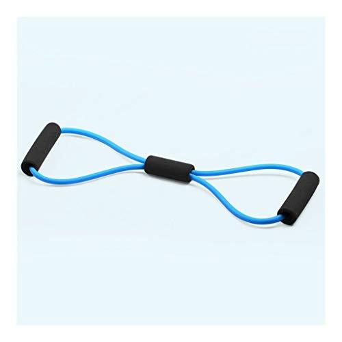 YULAN Pilates Rally de Yoga Entrenamiento Estiramiento de la Correa de Hombro Volver Formación Trasera Fina Artefacto Inicio de tracción por Cable Equipo de la Aptitud (Color : Blue)