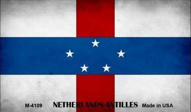 Koopje Wereld Nederland Antillen Vlag Nieuwigheid Metalen Magneet (Met Sticky Notes)