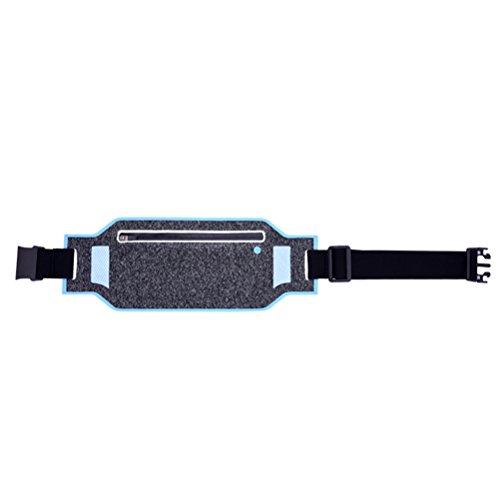 VOSAREA Running Hüfttasche wasserdicht atmungsaktiv einstellbar Gürtel Gürteltasche Fit iPhone X 8 Plus Samsung Hinweis 8 Google Pixel Idee für Laufen Wandern Radfahren Wandern Fitness (Sky Blue)