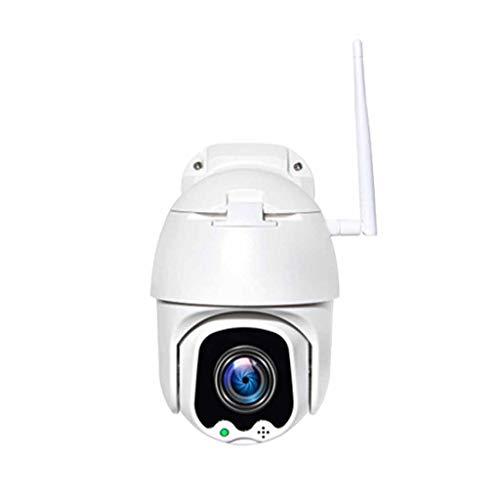 QPALZM 5MP Cámara Vigilancia WiFi Exterior,isión Nocturna Todo Color,IP66 Impermeable,Cámara Vigilancia Exterior WiFi 3 X Zoom,Detección Movimiento,Audio Bidireccional,+64GB Memory Card