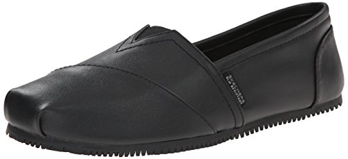 Skechers For Work Women's Kincaid II Slip On Flat w/gore, Black, 5 M US