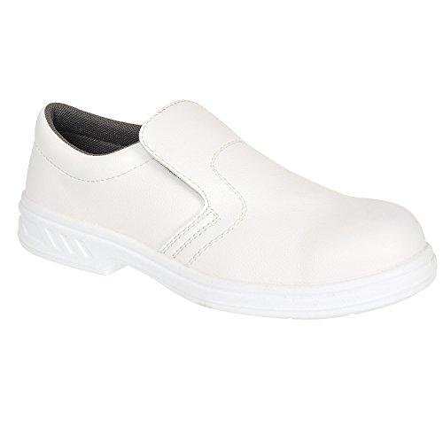 Portwest FW81 - Slip-On de seguridad S2 Zapato, color Blanco, talla 43