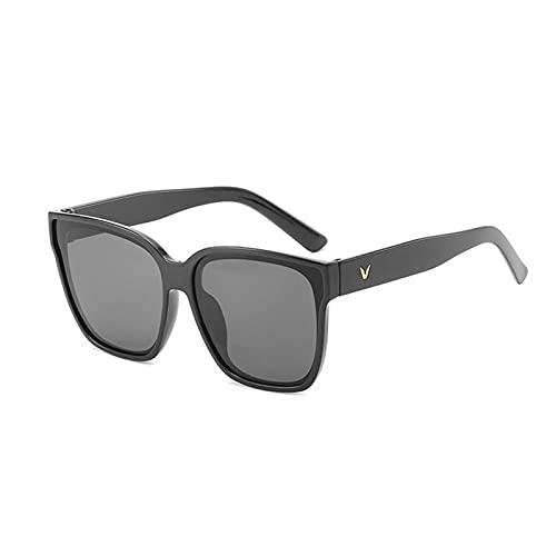 Gafas duraderas Simple Square Gafas de Sol Mujeres Diseñador Retro Marco Gran Sol Gafas Mujer Vintage Vintage Hombre (Lenses Color : 01)