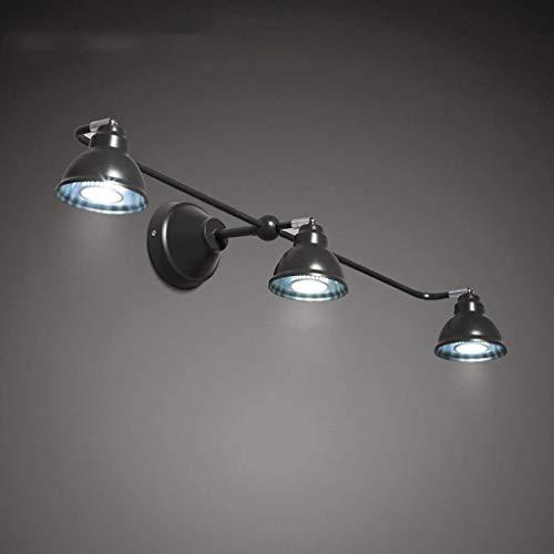 Minimalistische spiegellamp, modern, schijnwerper, wandlamp, badkamer, Scandinavische slaapkamer, badkamer, toilet, drie spiegellichten (kleur: wit licht)