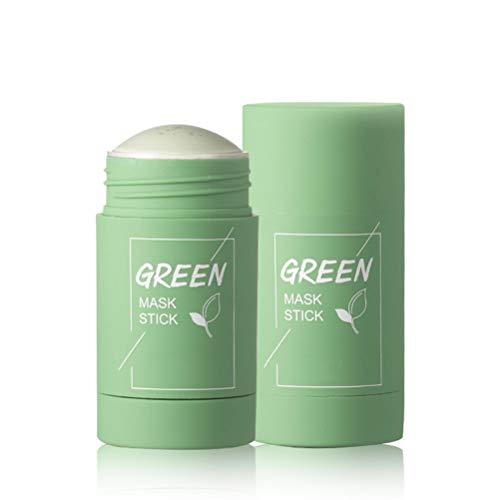 Crema cubriente de arcilla de té verde, Crema facial limpiadora profunda, Crema facial para puntos negros, Hidrata y controla el aceite, Crema de arcilla limpiadora antiacné, Mejora la estructura