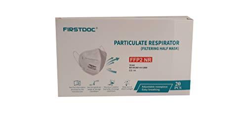 FIRSTDOC - Mascherine FFP2 - Confezionate Singolarmente - Certificate CE 2163-5 Strati Efficienza di Filtraggio 95% (20)
