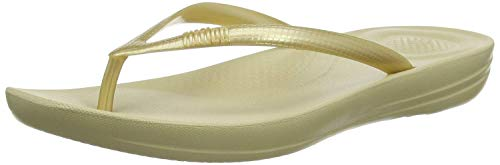 FitFlop Women's Flip Flop Sandals, Gold, 36