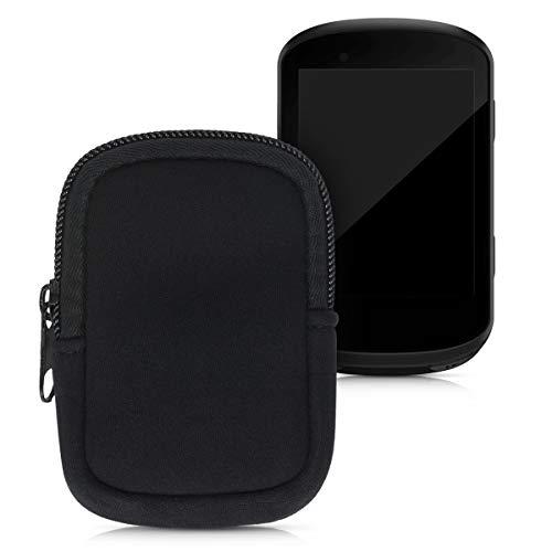 kwmobile Tasche kompatibel mit Garmin Edge 530/830 - Fahrrad GPS Neopren Hülle - Schutzcover Navi in Schwarz