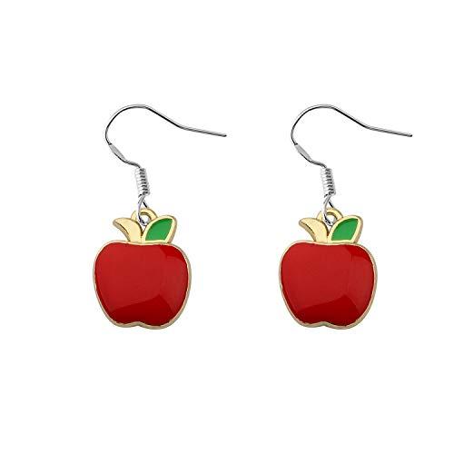 CHOORO Teacher Jewelry Cute Red Apple Dangle Earrings Summer Fruit Charm Earrings Teacher Appreciation Jewelry Back to School Gift (red Apple Earrings)