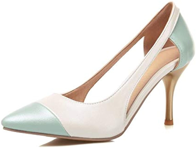 MENGLTX High Heels Sandalen Neue Sommer Frauen Pumpt Spitz Hohe Qualitt Pu-Leder Stiletto High Heels Prom Hochzeit Schuhe Frau